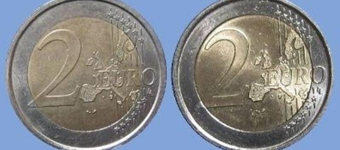 Soldi falsi, in circolazione monete da 2 euro uguali alle