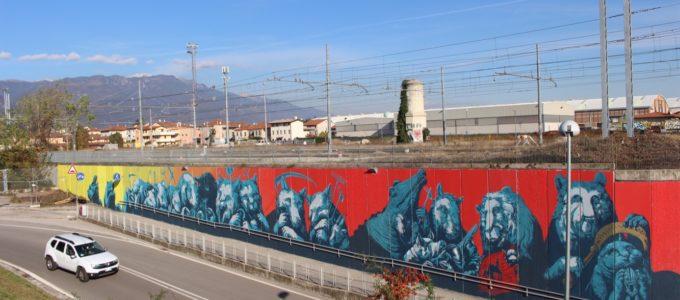 I Piu Bei Murales.Bassano Completato Il Murales Di Ericailcane Via Tabacco Ha Un